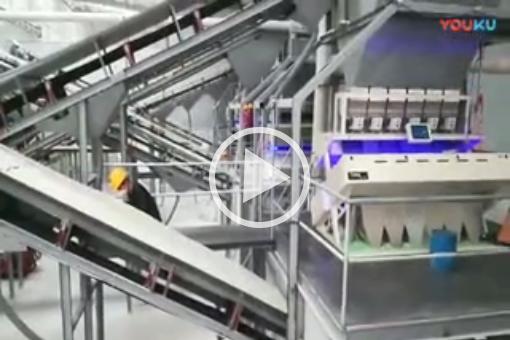 广州某建筑材料公司购买五台泰明石英砂色选机安装视频